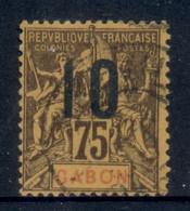Gabon 1912 Navigation & Commerce Surch. 10c On 75c FU - Gabon (1960-...)
