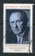 Gabon 1987 Konrad Adenauer FU - Gabon (1960-...)