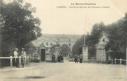 """/ CPA FRANCE 55 """"Saint Mihiel, Entrée Du Quartier Des Chasseurs à Cheval"""" - Saint Mihiel"""