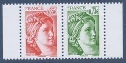 N° 5184 Et 5183 Issu Du Carnet 40 Ans Sabine De Gandon Bloc De 2,  Valeur Faciale 0,73 Et 0,85 €; - Unused Stamps
