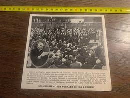 1929 PATI2 Inauguration Monument Aux Fusilles De 1914 Peuthy Club Des Martyrs De Sempst - Collezioni