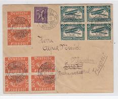 Deutsches Reich FLP-Brief Postlagend Viel Frankatur Nach München Portorichtig Geprüft - Covers & Documents