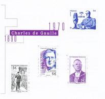 France Nouveautés 2020 De Gaulle  Feuillet Tirage 40 000 Neuf TB ** MNH Sin Charnela Prix De La Poste  20 - Neufs