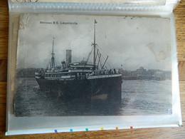 BATEAU + CONGO BELGE :LE NOUVEAU SS LEOPOLDVILLE POSTE EN ESPAGNE A TENERIFFE EN 1909 - Piroscafi