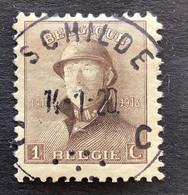 OBP 165 - 1c - EC SCHILDE - 1919-1920 Albert Met Helm