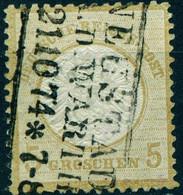 """Deutsches Reich 1872 Michel-# 22 """" Grosser Brustschild 5 Gr """" Mi ~40 € R3-o NEUSTADT Warthe - Oblitérés"""