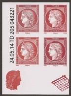 2014 -Salon Du Timbre Bloc De 4 Avec Coin Daté 4871 4872 4873 Et 4874  -NEUFS ** LUXE - Issus Du Feuillet CERES - Unused Stamps