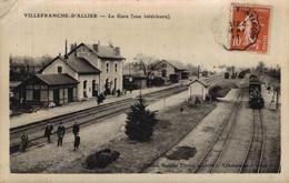03 VILLEFRANCHE-D'ALLIER   CPA Photo      La Gare (vue Intérieure) - Otros Municipios