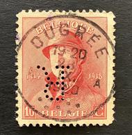 OBP 168 - 10c OUGREE - Perfin / Firmaperformatie R - 1919-1920 Behelmter König