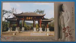 China 2013 Thousand Buddha Cliffs Of Guangyuan,Holding Lotus Guanyin(Sichuan,China) - Archéologie