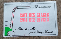 AUTOCOLLANT STICKER - CAFÉ DES GLACES 9 PLACE DU 8 MAI 76450 CANY-BARVILLE - NORMANDIE SEINE MARITIME - Stickers