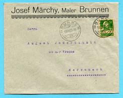 Brief Von Brunnen Nach Morschach 1927 - Absender: Josef Märchy - Covers & Documents