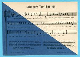 Einheitskarte Territorialtruppen Nr. 48 - Lied Vom Ter. Bat. 161 - Katalogpreis Fr. 60.- - Documents