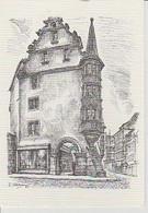 COLMAR  ( 68 )  GRAND' RUE,  LES  ARCADES  -  C P M  DESSIN  - ( 21 / 6 / 29  ) - Colmar