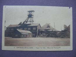 CPA 62 COURCELLES LES LENS Fosse 7 Et 7 Bis Mines De L'Escarpelle 1949 RARE PLAN ? MINE Canton HENIN BEAUMONT - Other Municipalities