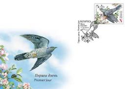 TH_ Belarus 2014 Bird Of The Year Cuckoo FDC - Cuckoos & Turacos