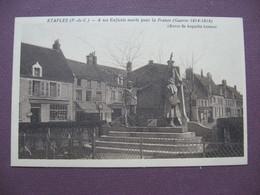 CPA 62 ETAPLES Monument Aux Morts - Etaples