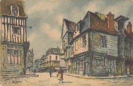 CPA - Barday - Louviers - Vieilles Maisons Rue Du Neubourg - Barday