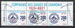 """2021 - Y/T 5489  """"COMPAGNIE DES GUIDES DE CHAMONIX 200 ANS"""" - HAUT DU FEUILLET - OBLITERE 1er Jour 21.05.21 - Oblitérés"""