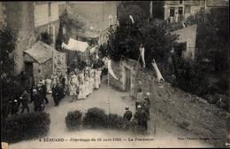CPA Béhuard Maine-et-Loire, La Procession, Pèlerinage 1924 - Otros Municipios