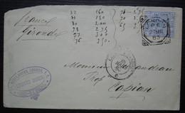 London 1883 Edward Morin Bevis Marks London Ec Lettre Pour Capian France Gironde, Convoyeur Calais à Paris C - Covers & Documents