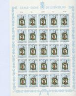 Luxembourg - Luxemburg - Timbres  1963 -CARITAS -  St Michel, Patron Des Merciers - Feuille à 25  3F.+50C.   MNH** - Blokken & Velletjes