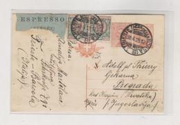 ITALY TRIESTE 1925 Priority Postal Stationery To Yugoslavia - Storia Postale
