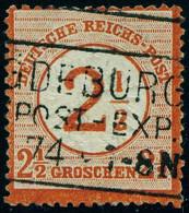 """Deutsches Reich 1874 Michel-# 29 """" 2 1/2 Gr GEPRÜFT BRETTL R3-o Magdeburg """" Mi ~55 € - Oblitérés"""