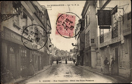 CPA Gisors Eure, Rue Cappeville, Hotel Des Trois Poissons - Andere Gemeenten