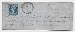 N° 14 PC 4305 TYPE 22 L'ESSEILLON 19 DEC 1862 SAVOIE ENVELOPPE  LETTRE INDICE  26 RARE - 1849-1876: Classic Period