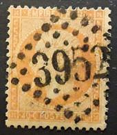 Empire Dentele No 23, 40 C Orange Obl GC 3952 De THORENS SALLES , Haute Savoie,  Indice 13, Belle Frappe TB - 1862 Napoléon III.