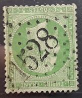 Empire Dentele No 20, 5 C Vert Obl GC 1528 De FLORAC , Lozère,  Belle Frappe  , TB - 1862 Napoléon III.