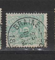 COB 45 Centraal Gestempeld Oblitération Centrale BRAINE-LE-COMTE - 1869-1888 Lying Lion