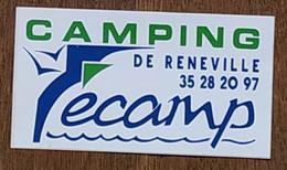 AUTOCOLLANT STICKER - CAMPING DE RENEVILLE - FECAMP - SEINE MARITIME - NORMANDIE - Stickers