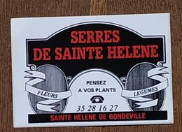 AUTOCOLLANT STICKER - SERRES DE SAINTE HELENE DE BONDEVILLE - FLEURS LEGUMES - SEINE MARITIME NORMANDIE - Stickers