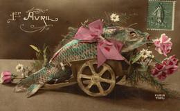 1er AVRIL FLEURS  Furia  POISSON D'AVRIL FANTASÍA FANTAISIE FANTASY - 1° Aprile (pesce Di Aprile)