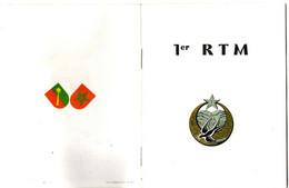 LIVRET DU1ER REGIMENT TIRAILLEUR MAROCAIN . 16 PAGES - Documentos