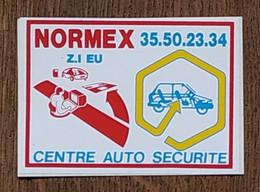 AUTOCOLLANT STICKER - NORMEX - CENTRE AUTO SÉCURITÉ - VOITURE - AUTOMOBILE - EU - SEINE MARITIME NORMANDIE - Stickers