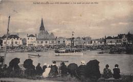 85-SAINT-GILLES-CROIX-DE-VIE- LE QUAI UN JOUR DE FÊTE - Saint Gilles Croix De Vie