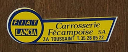 AUTOCOLLANT CARROSSERIE FECAMPOISE - FIAT - LANCIA - FECAMP - VOITURE - AUTOMOBILE - SEINE MARITIME NORMANDIE - Stickers