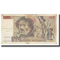 France, 100 Francs, Delacroix, 1990, TB, Fayette:69BIS.02A, KM:154d - 100 F 1978-1995 ''Delacroix''