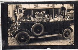 Carte Photo AUTOBUS Fleuri  LOUDUN (86) Aout 1926 - Loudun