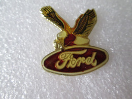 PIN'S     FORD    Fond Rouge   AIGLE - Ford