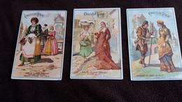 3 IMAGES PUB CHOCOLAT VINAY  BOURGEOISIE ALSACE PATRICIENNE   FORMAT 7 PAR 10.5 CM - Other