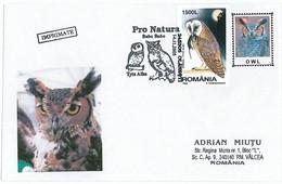 COV 13 - 257 OWL, Romania - Cover - Used - 2005 - Eulenvögel