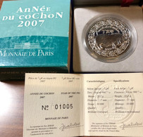 Francia France 2007 0,25 1/4 € Année Du Cochon - France