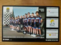 Cyclisme - Carte Publicitaire Recto-verso ONDA 2013 : Les  Groupes  RADIO POPULAR ONDA BOAVISTA Et COFIDIS - Radsport