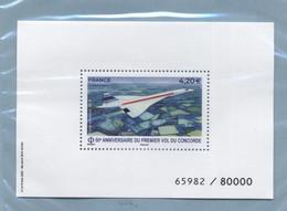 2021 Poste Aérienne Concorde 50ème Anniversaire Du Premier Vol - Mint/Hinged