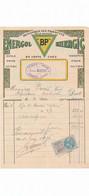 Facturette Illustrée Essence BP Energol Energic ( épicerie Grains RAOUL ALBERT à AMBARES 33 Gironde - 1900 – 1949