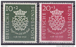 Bund 1950 - Mi.Nr. 121 - 122 - Postfrisch MNH - Bach - Unused Stamps
